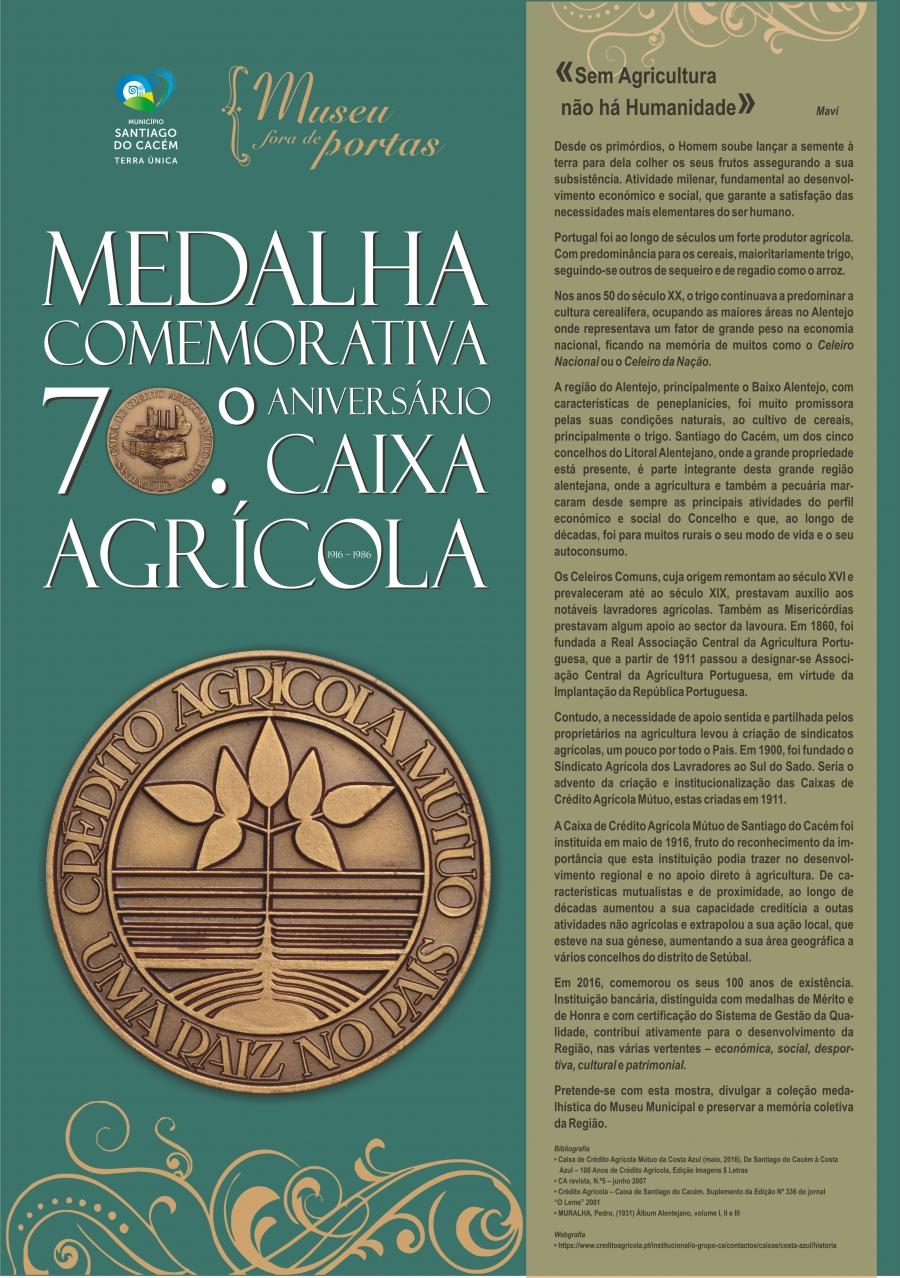 Museu Fora de Portas – Medalha Comemorativa do 70.º Aniversário da Caixa Agrícola