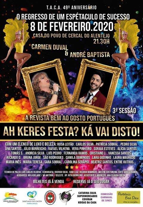 """Teatro de Revista """"Ah Keres Festa? Ká vai disto!"""""""
