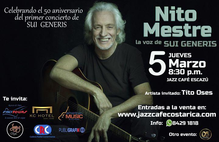 Nito Mestre Celebrando 50 años de Sui Géneris