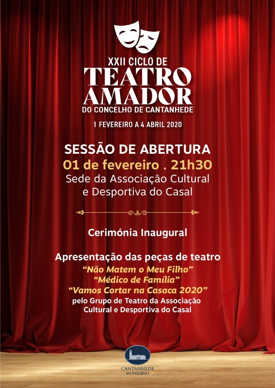 Sessão de Abertura do XXII Ciclo de Teatro Amador do Concelho de Cantanhede