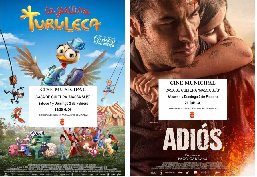 El cine municipal proyecta: La gallina Turuleca y Adiós
