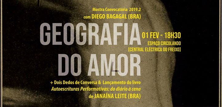 Geografia do Amor - Diego Bagagal (BRA) + Lançamento de livro