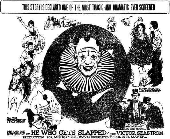 """Tiago + Projecção do filme """"He Who Gets Slapped"""" (1924)"""
