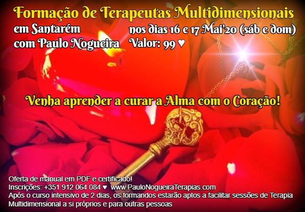 Curso de Terapia Multidimensional em Santarém em Mai'20 - 99 eur