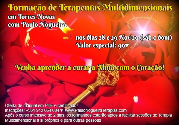 Curso de Terapia Multidimensional em Torres Novas Nov'20- 99 eur