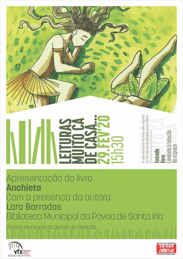 """Apresentação do livro """"Anchieta"""", de Lara Barradas, seguido de workshop para pais e filhos"""