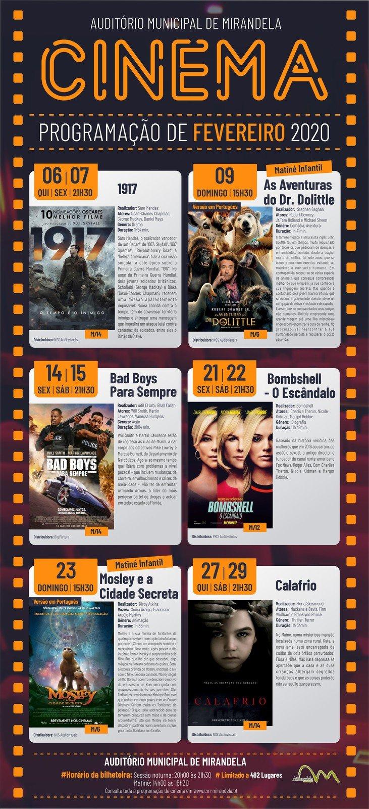 Cinema: Fevereiro 2020