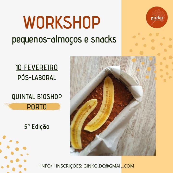 Workshop Pequenos Almoços e Snacks