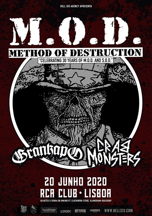 MOD Method Of Destruction // Grankapo // Crab Monsters - Lisboa