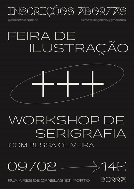Feira de Ilustração + Workshop Serigrafia
