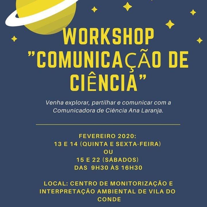 Workshop 'Comunicação da Ciência'