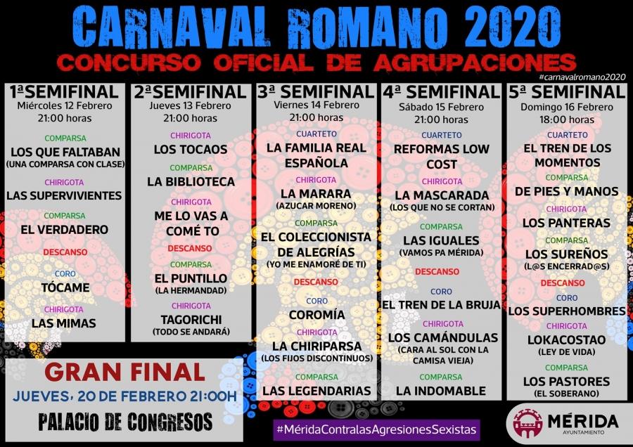 Concurso Oficial Agrupaciones Adultas Carnaval Romano 2020