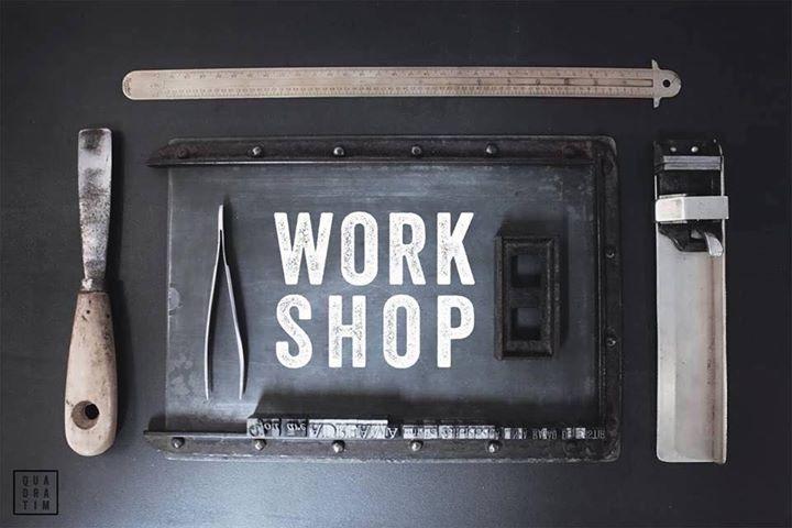 Workshop tipografia tradicional
