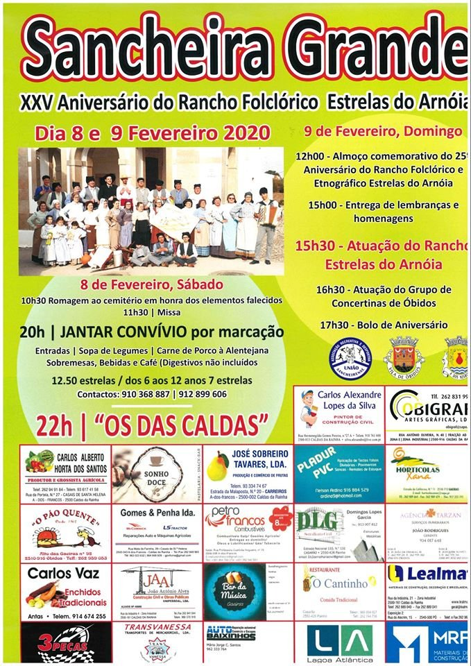 XXV Aniversário do Rancho Folclórico Estrelas do Arnóia