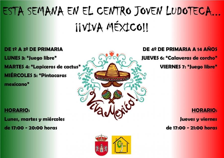 Centro Joven Ludoteca temática: Viva México