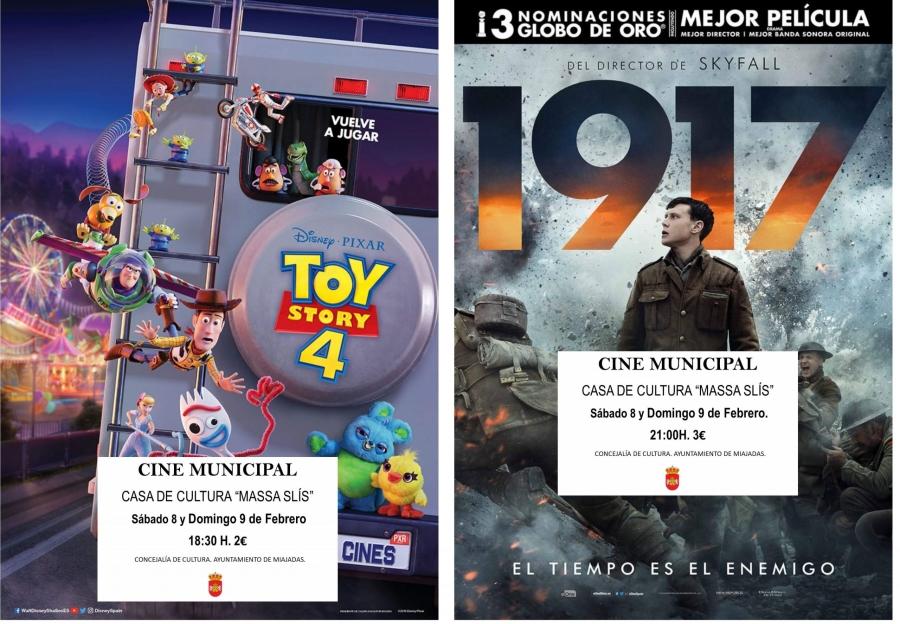 El cine municipal proyecta: Toy Story 4 y 1917