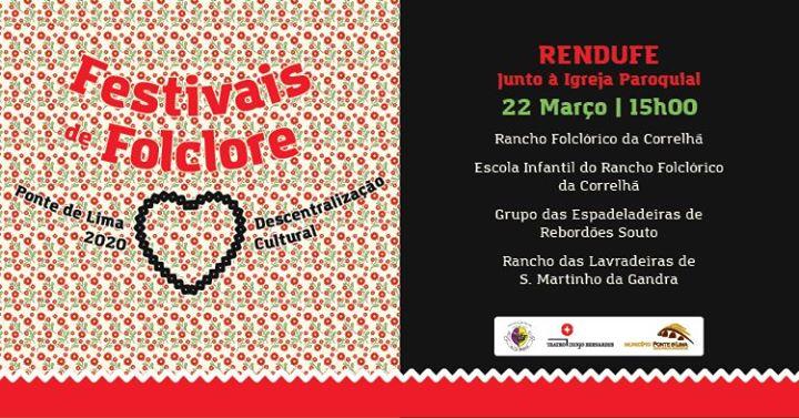 Cancelado | Festivais de Folclore - Rendufe - Ponte de Lima