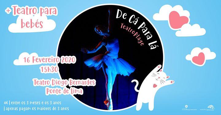 De Cá Para Lá, pelo TeatroPlage - Teatro Para Bebés - 15h30
