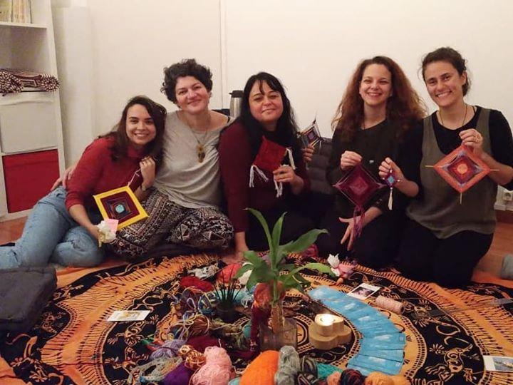 Grupo Terapêutico para Mulheres   Mandala de lã