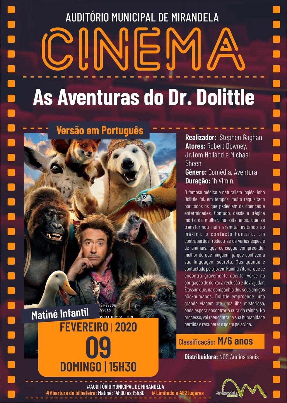 Cinema: As Aventuras do Dr. Dolittle
