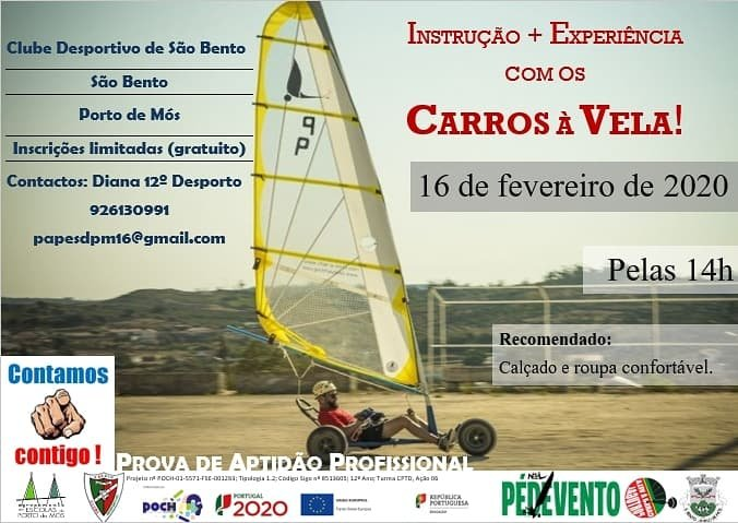 Instrução + Experiência com os Carros à Vela