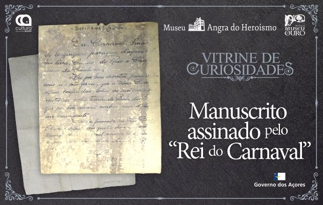 'Vitrine de Curiosidades', Manuscrito Assinado pelo Rei do Carnaval