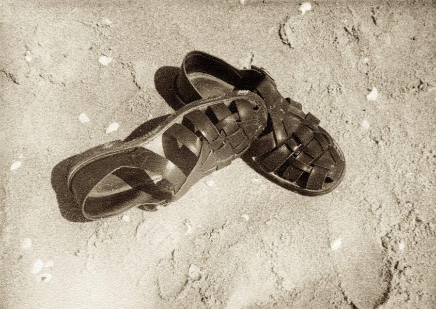 Sandálias de Pele de Porco