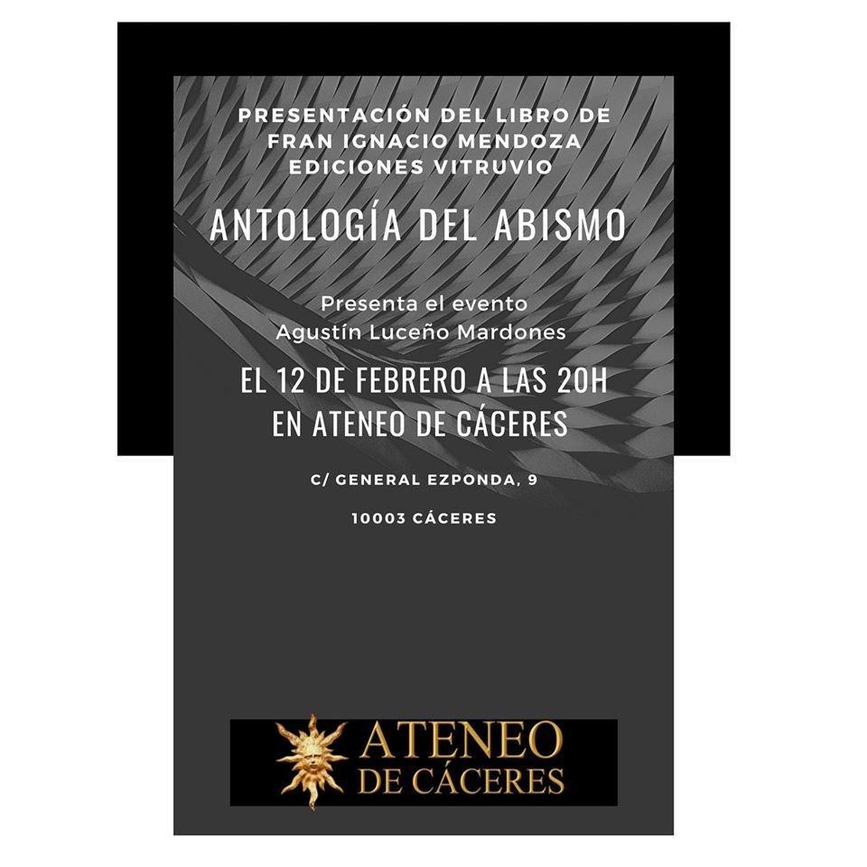 Presentación del Poemario «Antología del abismo», de Fran I. Mendoza