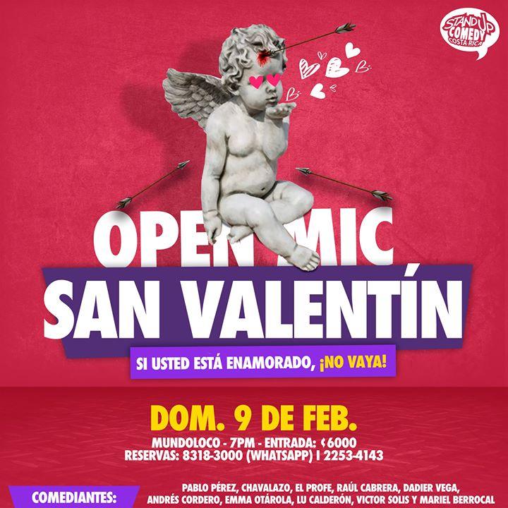 Open Mic, Esp. San Valentín! Show de Stand Up Comedy Costa Rica