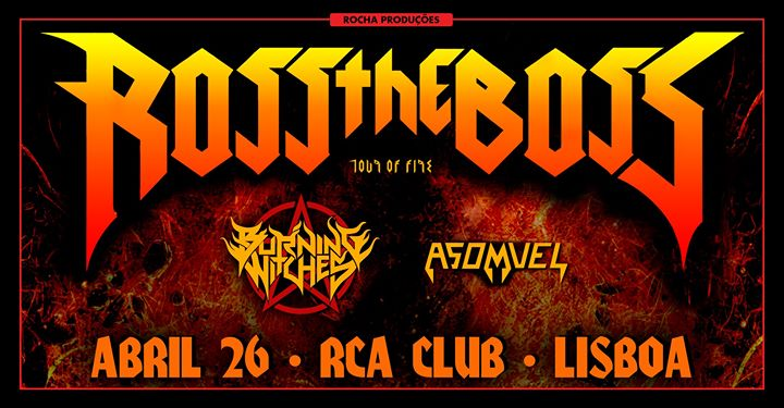 ROSS the BOSS TOUR- rca club,Lisboa