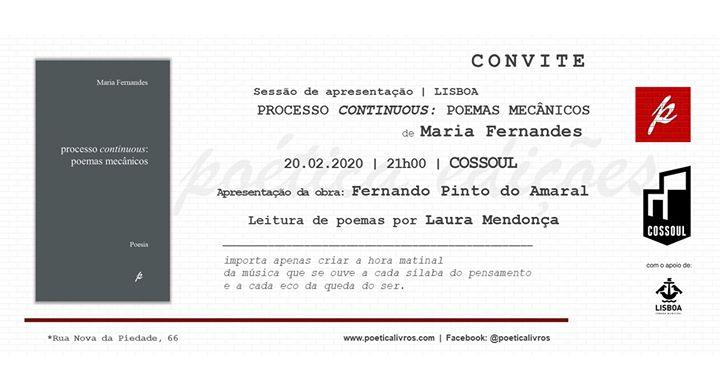 Processo Continuous: Poemas Mecânicos, de Maria Fernandes