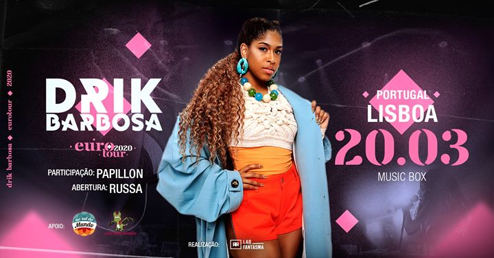 Drik Barbosa e convidados no Music Box - Eurotour 2020
