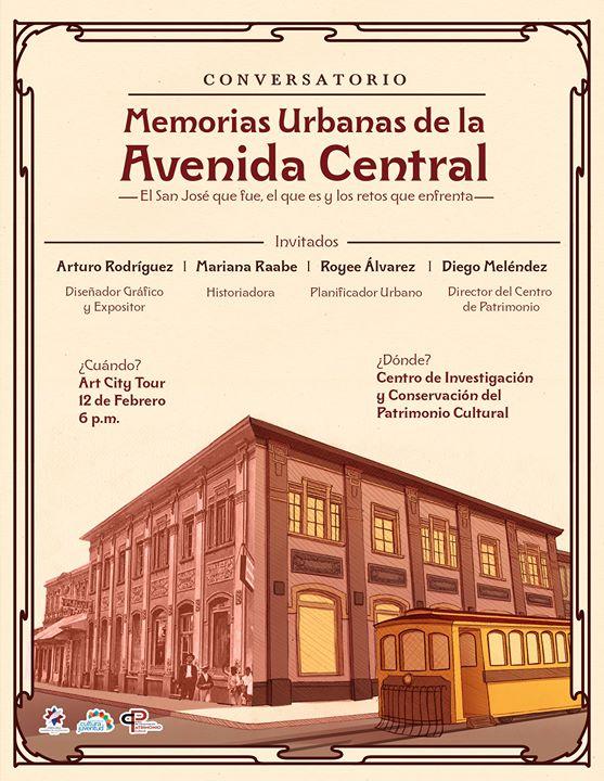 Conversatorio Memorias urbanas de la Avenida Central