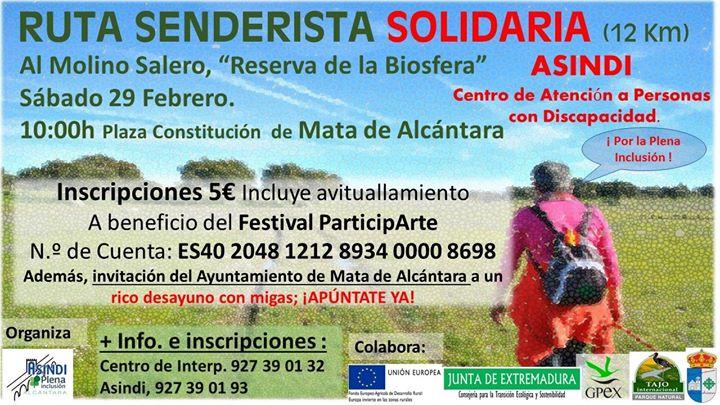Ruta Senderista Solidaria en Mata de Alcántara