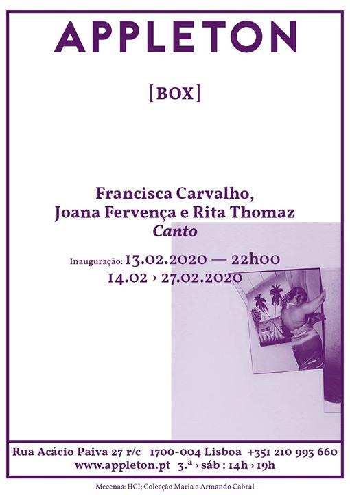 Box: Canto - Francisca Carvalho, Joana Fervença e Rita Thomaz