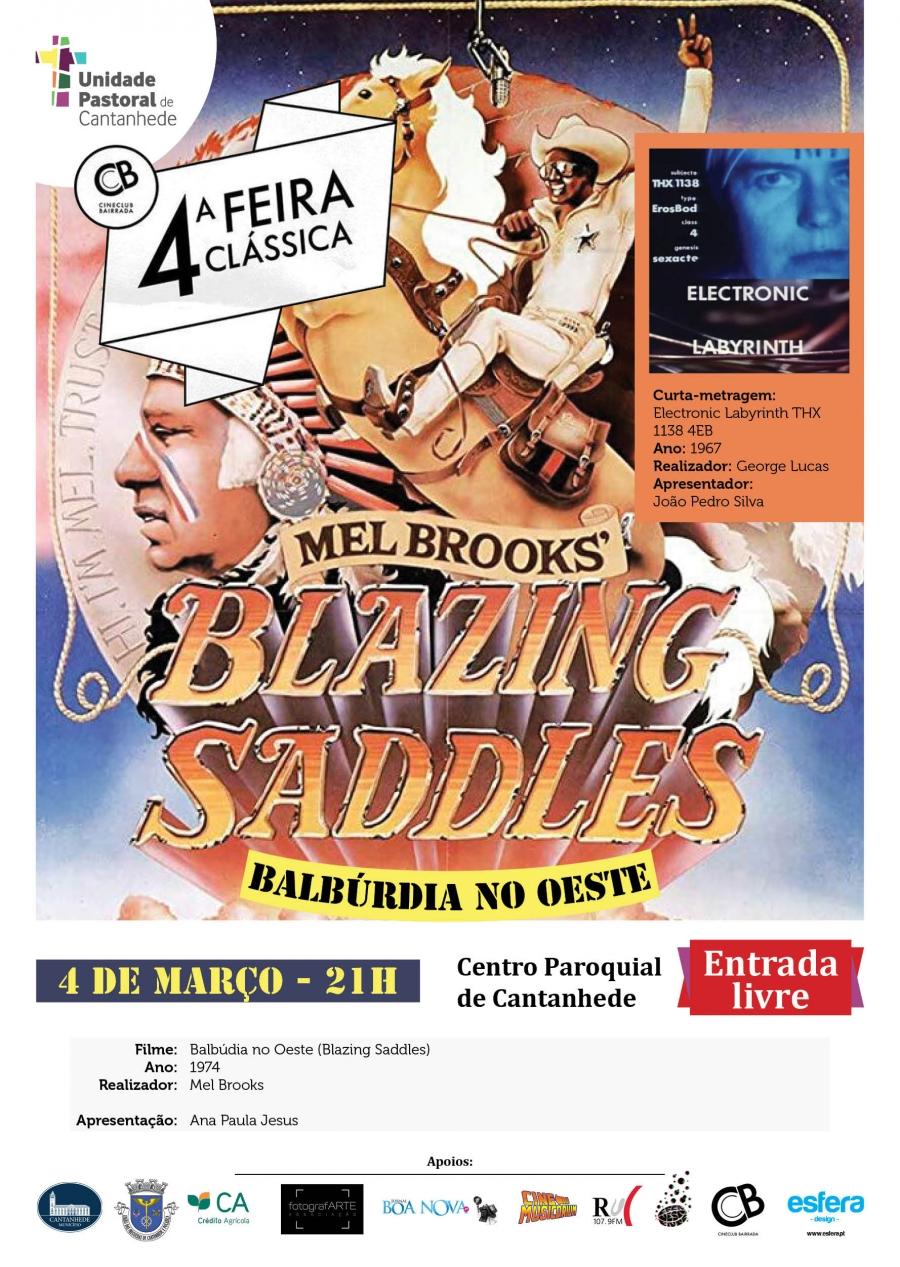 4.ª Feira Clássica: 'Balbúrdia no Oeste' de Mel Brooks