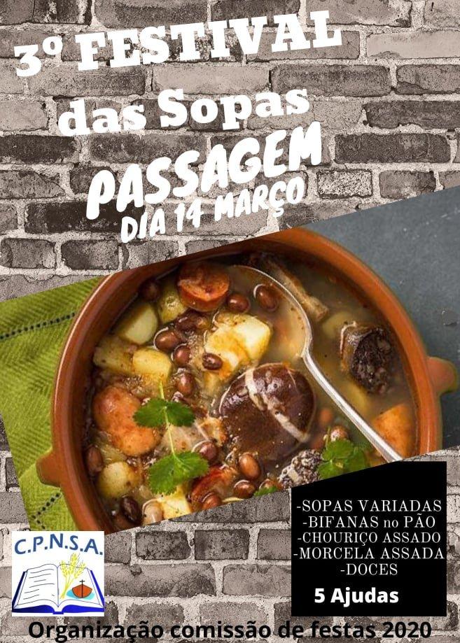 3º FESTIVAL DAS SOPAS -PASSAGEM