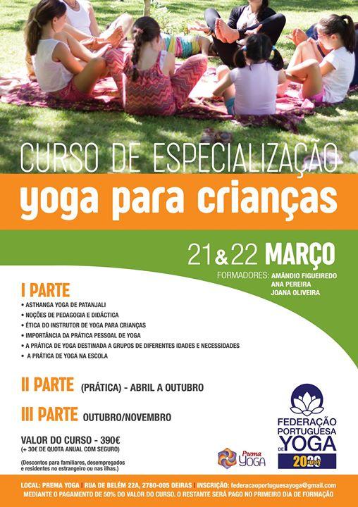 Curso de Especialização em Yoga para Crianças