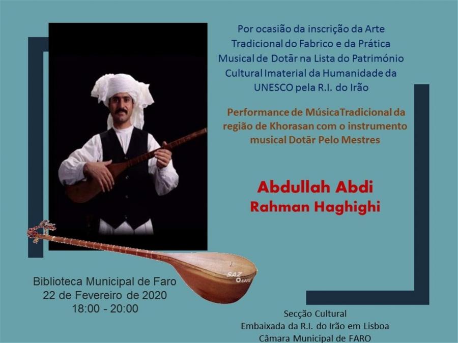 Concerto- música tradicional da região de Khorasan
