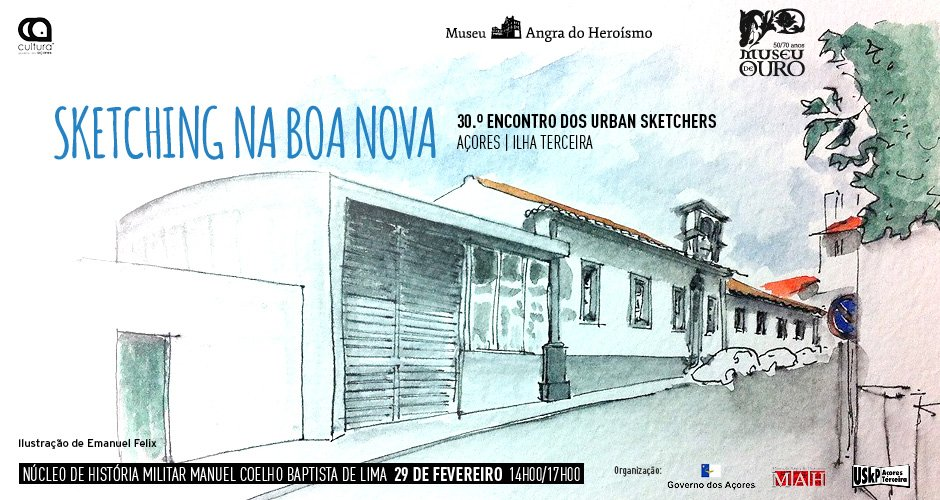 Sketching na Boa Nova | 30.º Encontro de Urban Sketchers