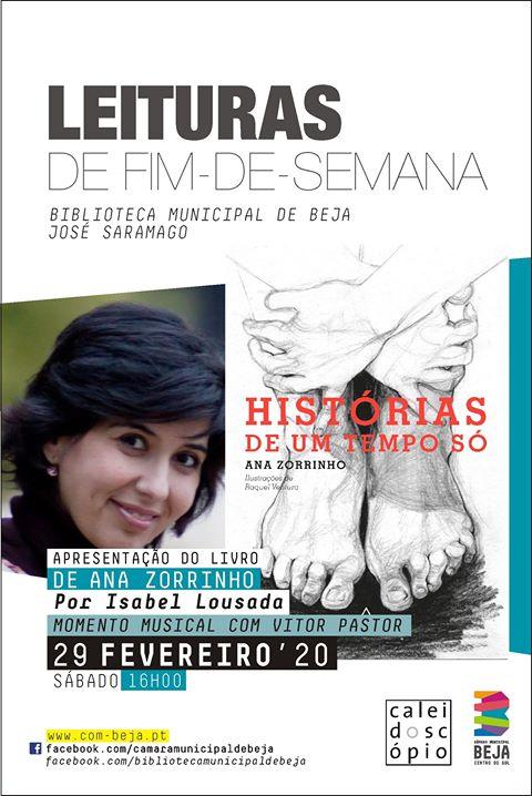 Apresentação do livro 'Histórias de um Tempo Só' de Ana Zorrinho