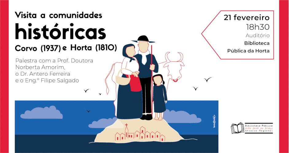 "Palestra ""Visita a comunidades históricas – Corvo (1937) e Horta (1810)"""