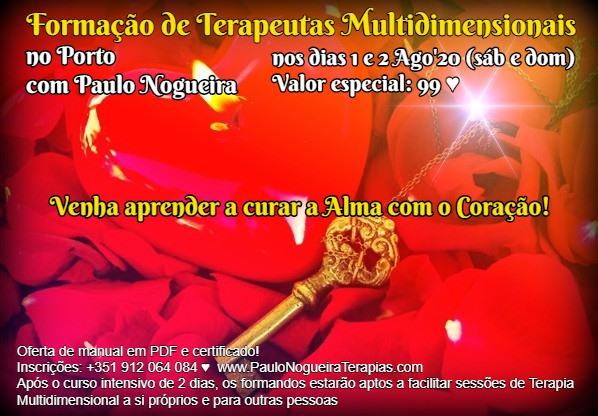 Curso de Terapia Multidimensional no Porto em Ago'20 - 99 eur