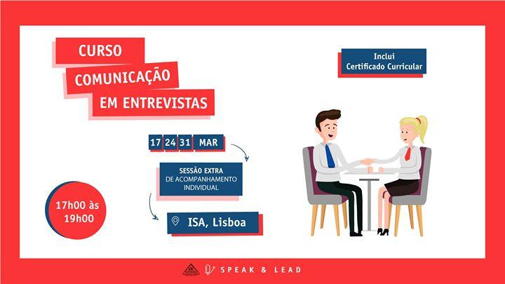 Curso Comunicação em Entrevistas - Lisboa - ISA
