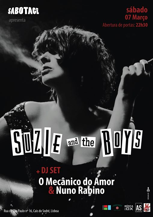 Suzie and the Boys + O Mecânico do Amor (DJ set) | Sabotage Club