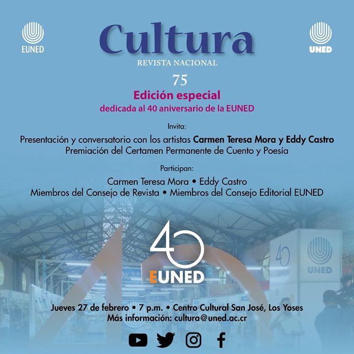 Presentación Revista Nacional de Cultura 75