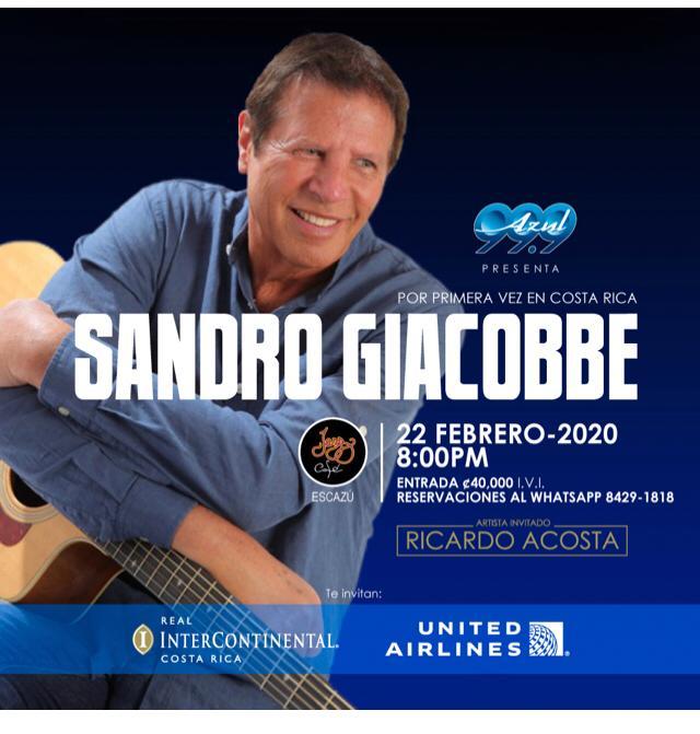 Sandro Giacobbe en Jazz Café Escazú