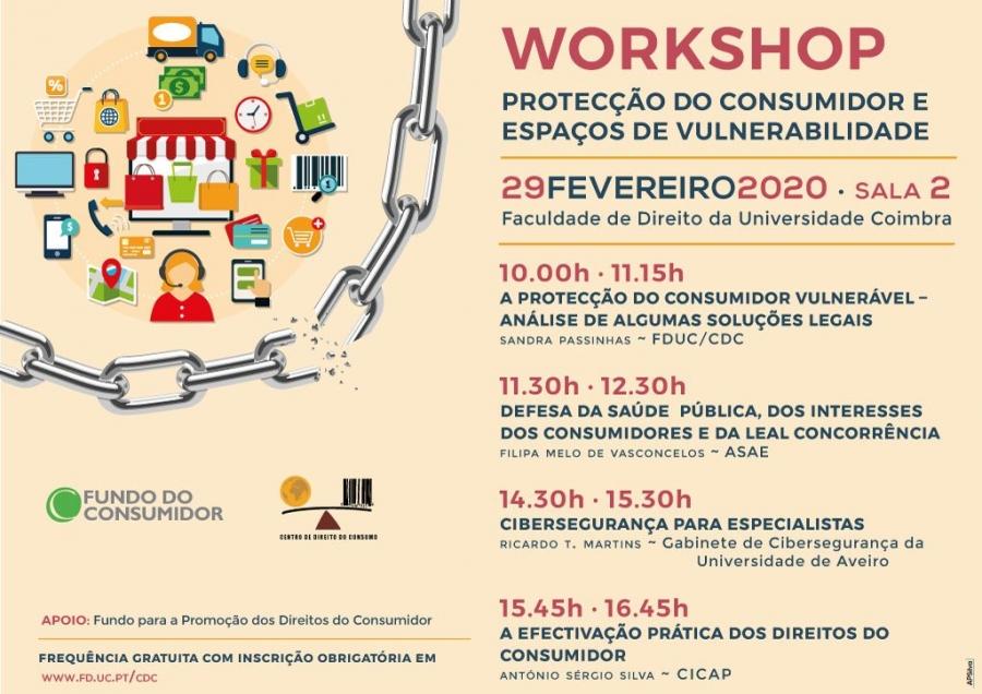 WORKSHOP · Protecção do Consumidor e Espaços de Vulnerabilidade