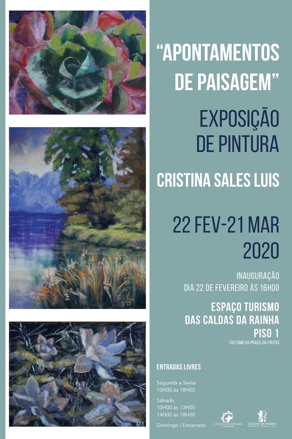 """Exposição de Pintura """"Apontamentos de Paisagem"""", de Cristina Sales Luís"""