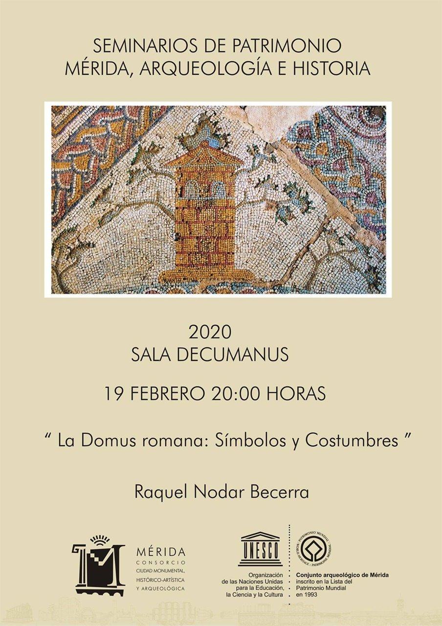 Seminarios de Patrimonio: «La Domus romana: símbolos y costumbres»
